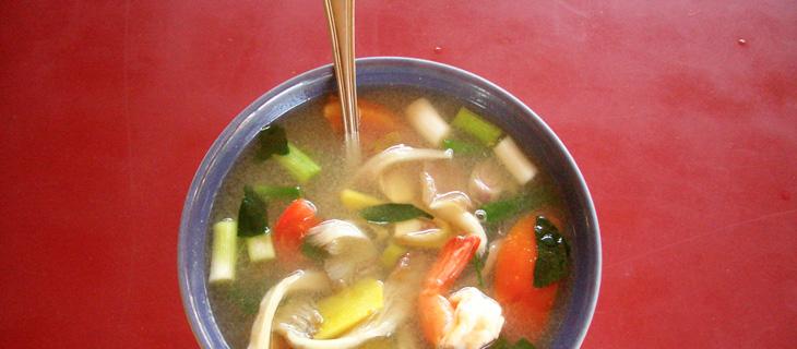 Eten in Chambre d'hôte, Thaise soep